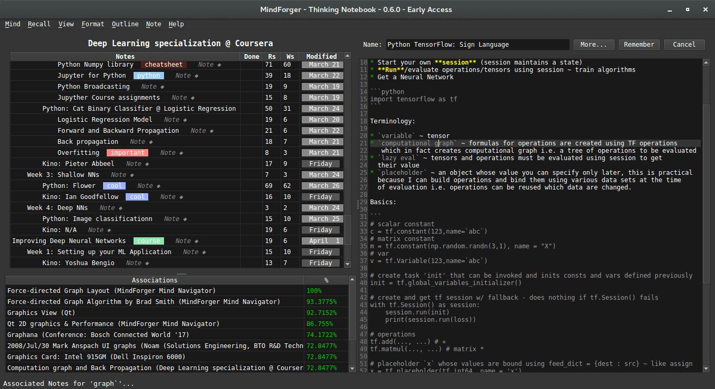 MindForger screenshot